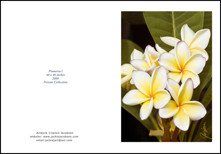 Plumeria I Greeting Card