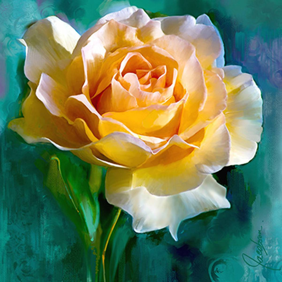 Canvas wall art flower paintings artist jackie jacobson canvas wall art rose mightylinksfo