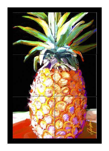 Mural - Tile Art- Pineapple