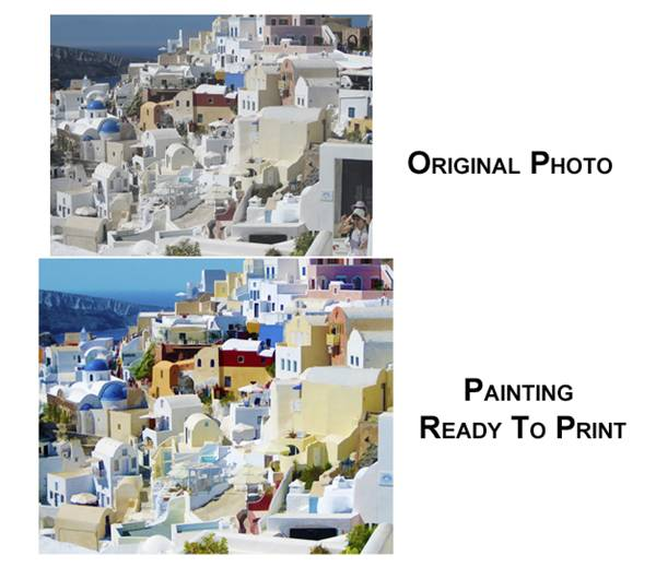 Santorini Photo - Before and After