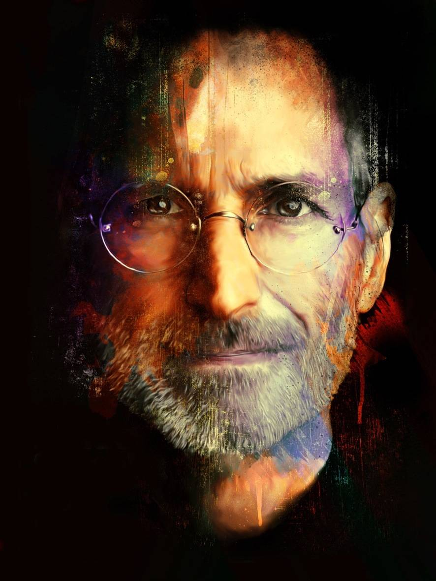 """Steve Jobs"" Painting • Artist Unknown"