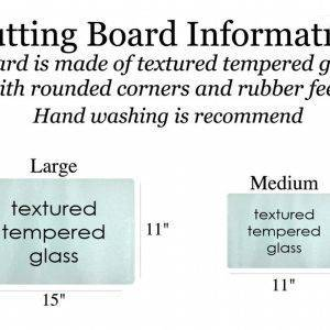 Cutting board sizes