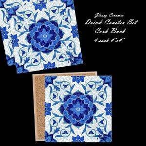 Greek Tile Drink Coasters